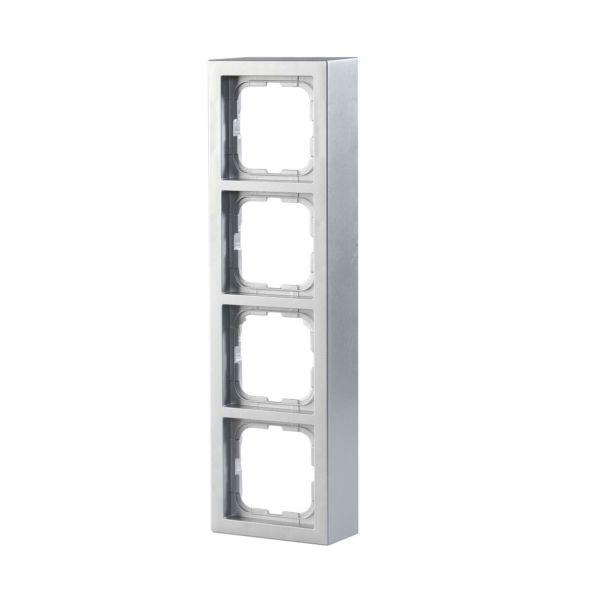ABB Impressivo Forhøyningsramme aluminium 4 rom