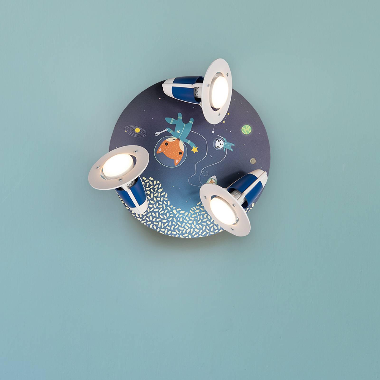 Kattovalaisin Space Mission, sininen, pyöreä