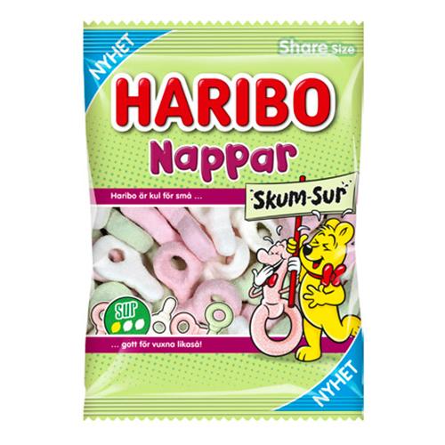 Haribo Nappar Skum Sur - 120 gram