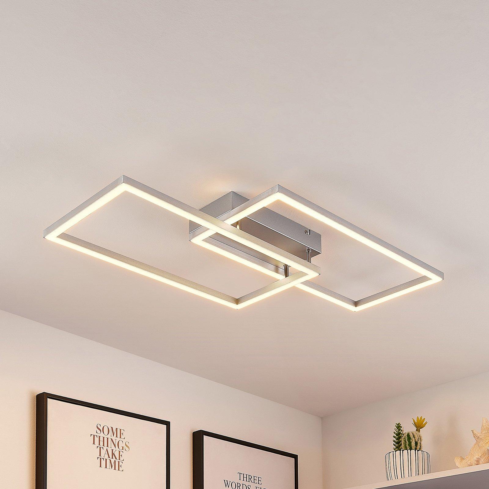 Lucande Muir LED-taklampe, rektangulær