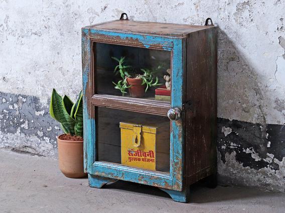 Small Vintage Cupboard Blue