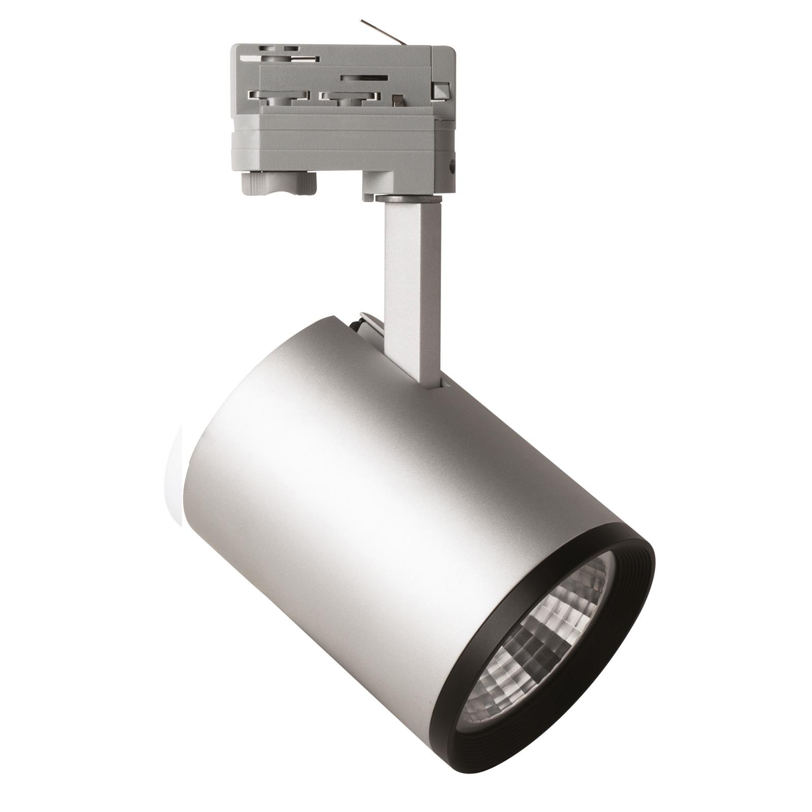 LED-spotti Marco 3-vaihekiskoon, hopea 3 000 K