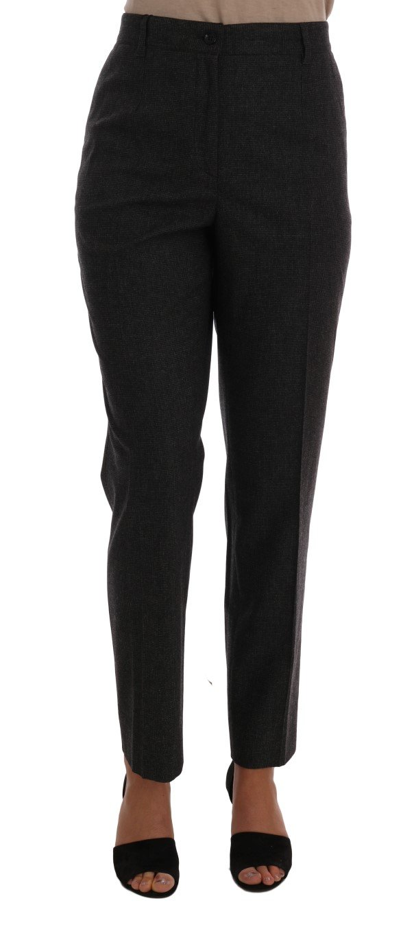 Dolce & Gabbana Women's Viscose Wool Woven Trouser Gray BYX1108 - IT46|XL