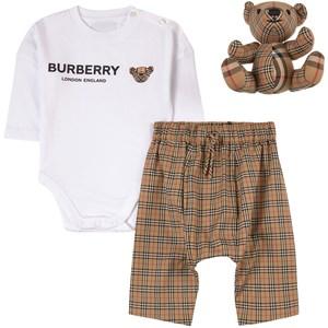 Burberry Rutigt Baby Set Beige 6 mån