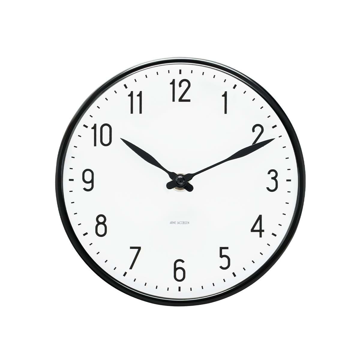 Arne Jacobsen - Station Wall Clock Ø 29 cm - Black (43643)
