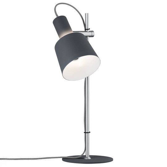 Haldar - moderni pöytälamppu, tummanharmaa
