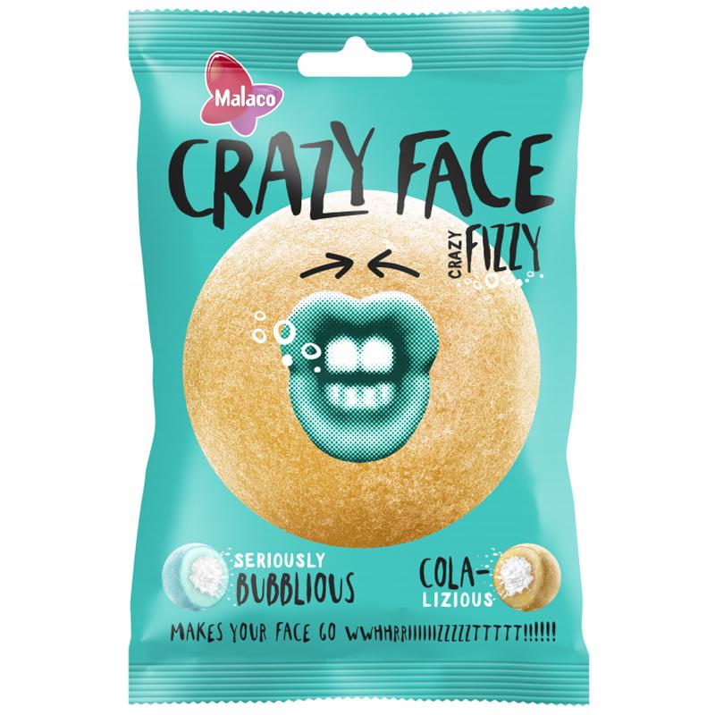 Crazy Face Fizzy Kola & Purukumi - 37% alennus