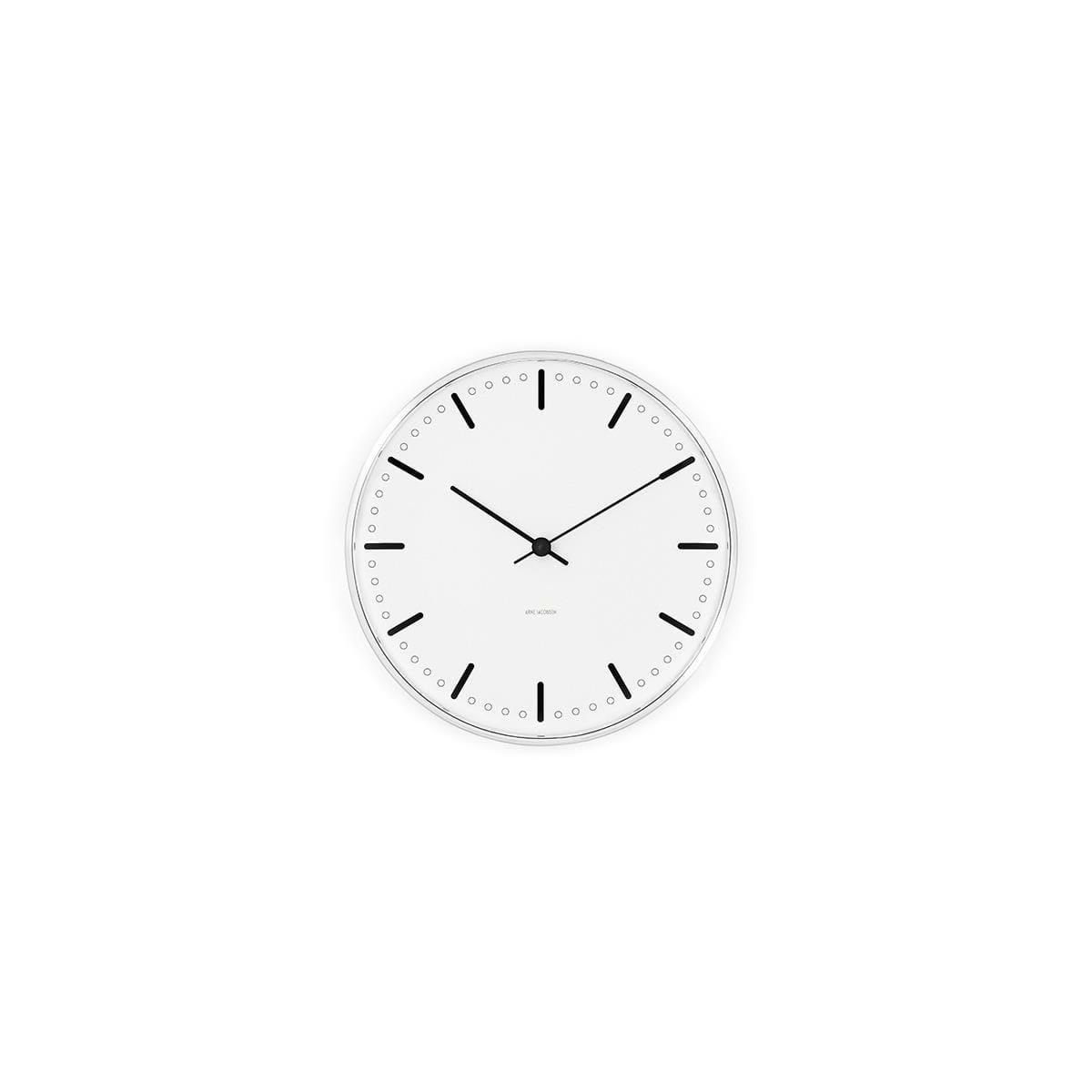 Arne Jacobsen - City Hall Wall Clock 16,5 cm - White (43621)