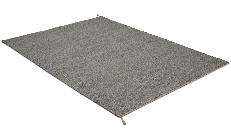 Sofiero grå 2 - håndvevd ullteppe