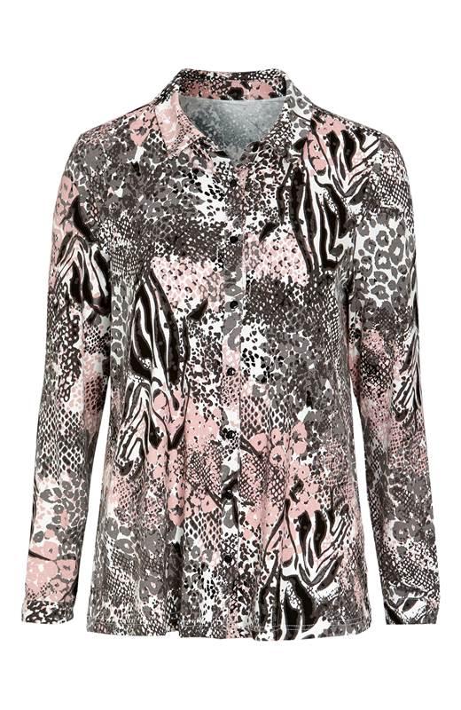 Cellbes Mönstrad A-linjeformad skjorta Rosa Mönstrad