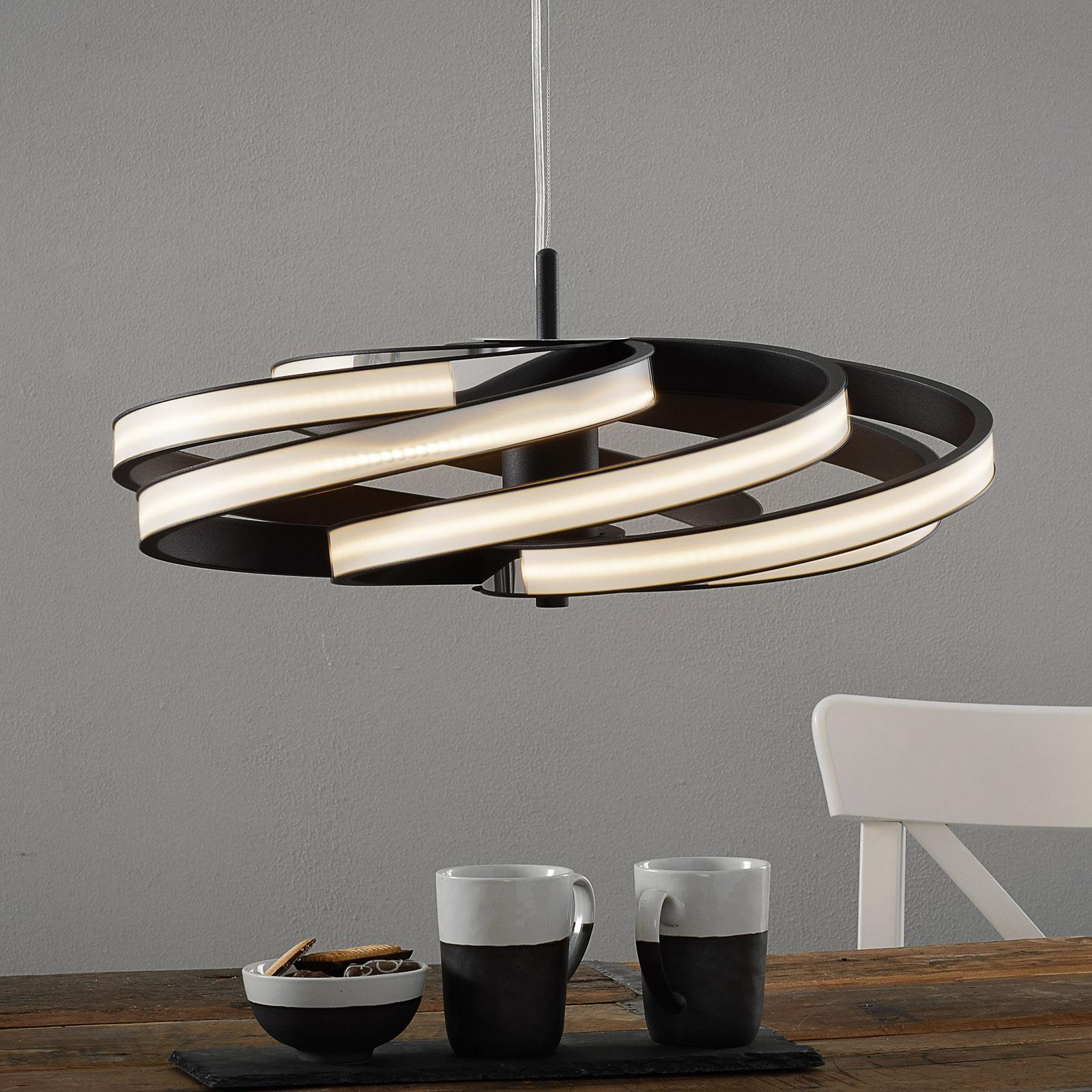 Kaunis LED-riippuvalaisin Zoya, musta