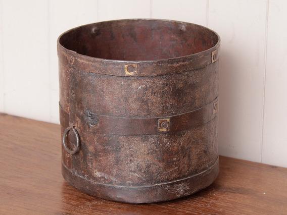 Rustic Metal Measuring Pot Medium