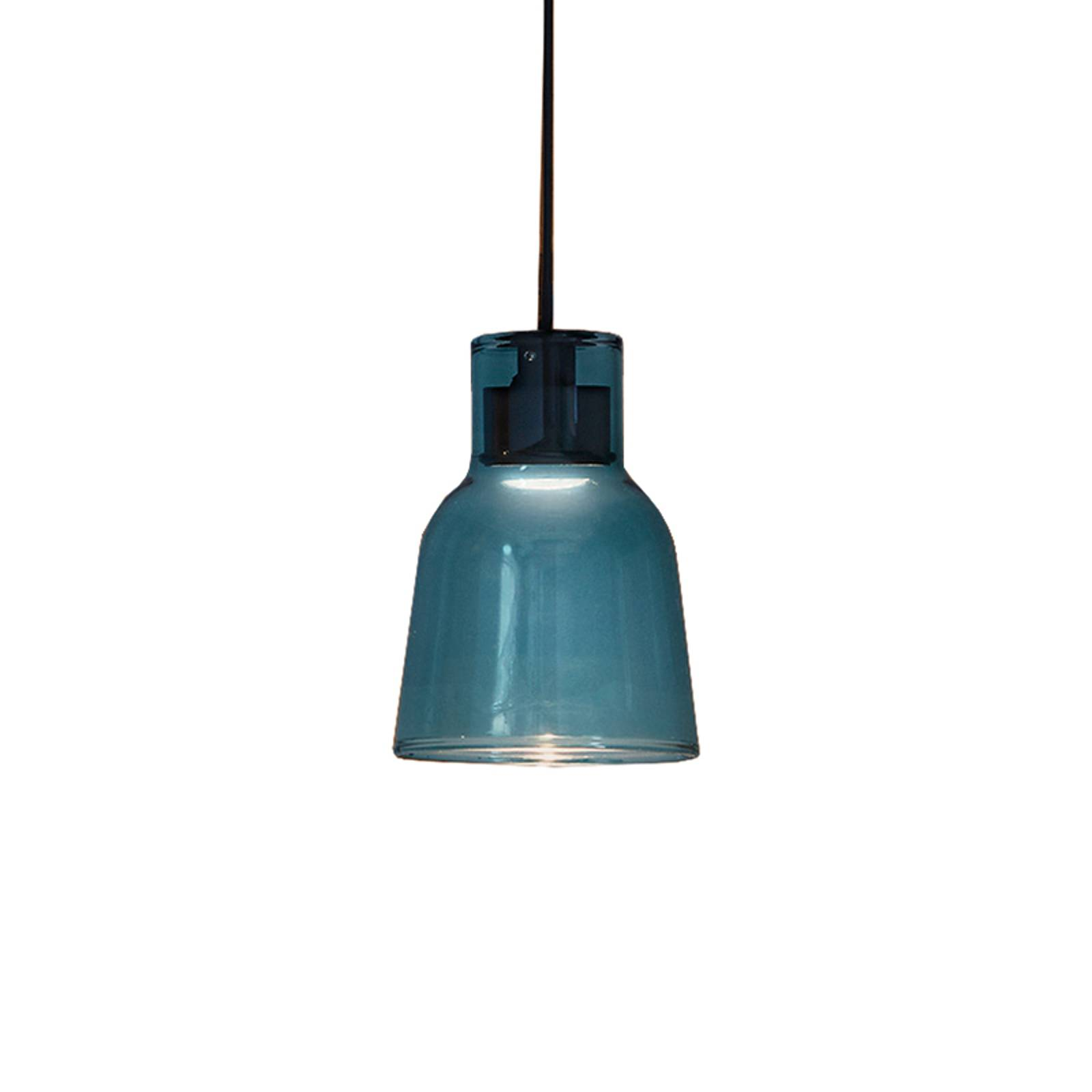 Bover Drip S/01L LED-riippuvalo lasista, sininen