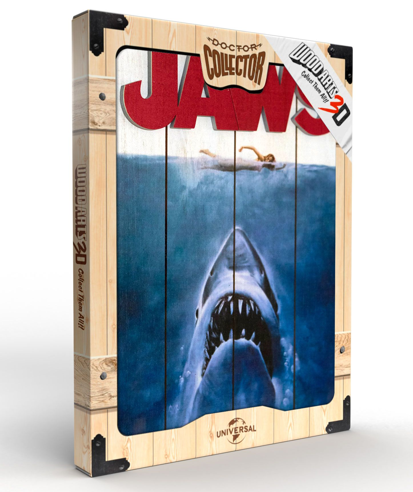 Jaws - Wooden Poster