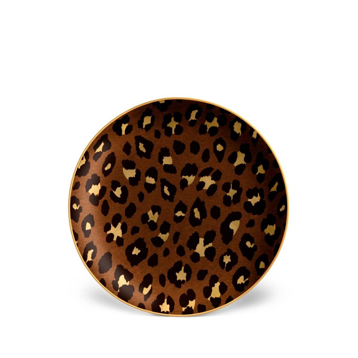L'Objet I Leopard Dessert Plates (Set of 4)