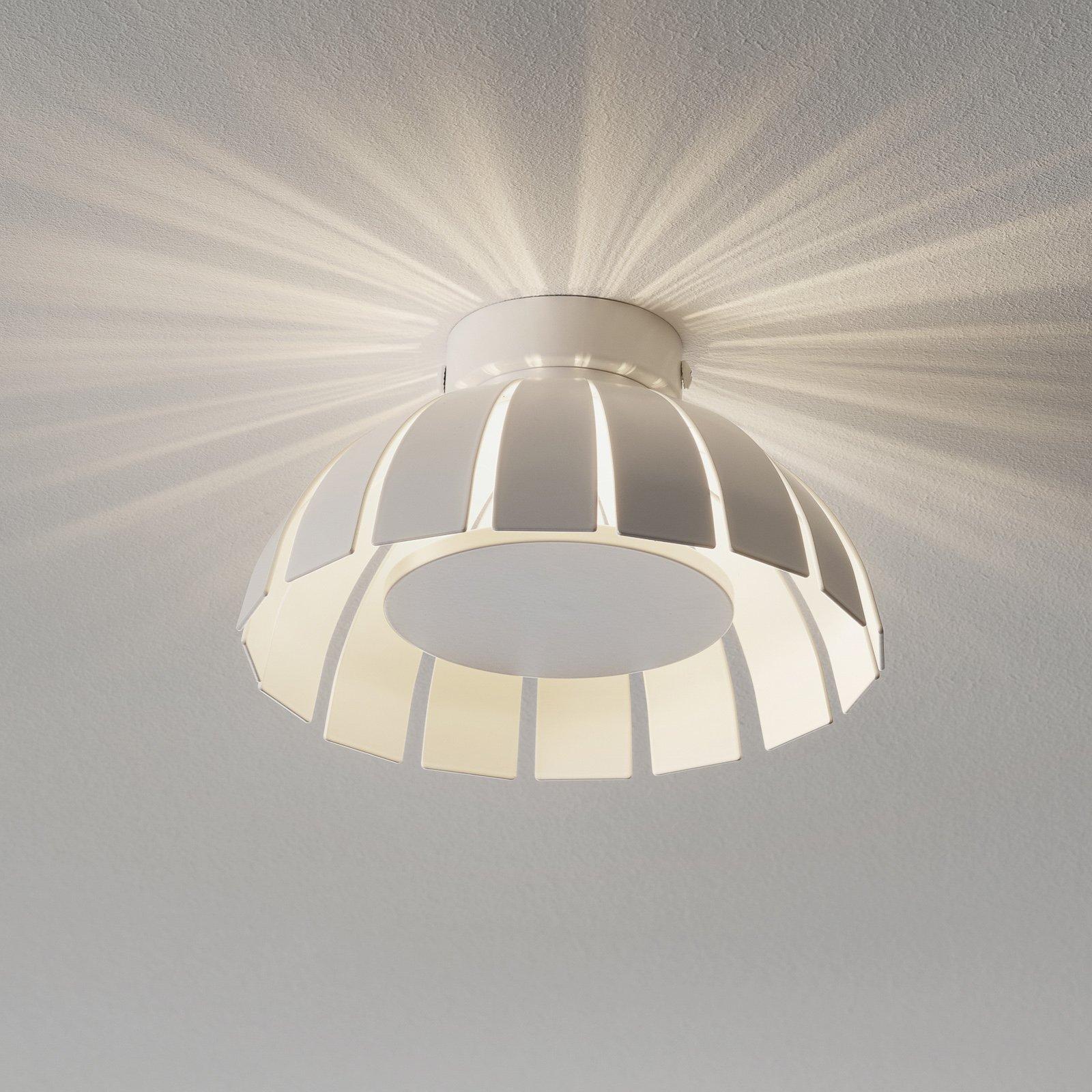 Hvit LED-designertaklampe Loto. 20 cm