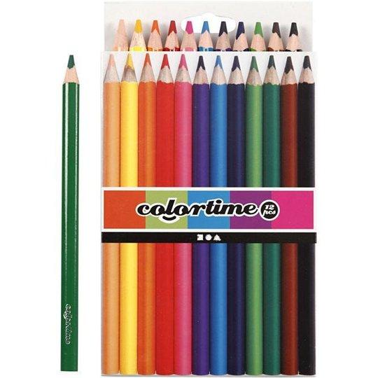 Colortime Fargeblyanter Blandede Farger 12 stk