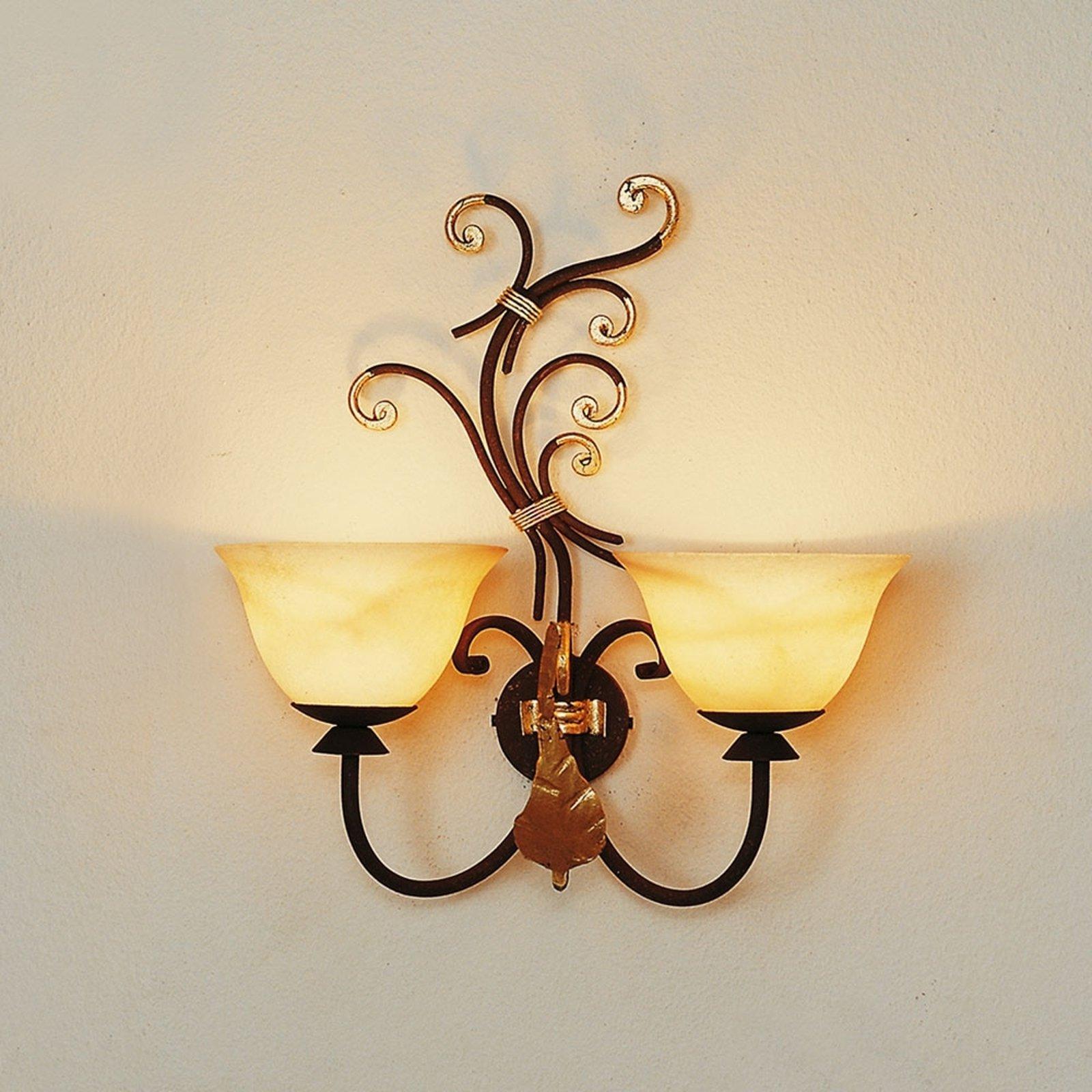 Vegglampe Florence med to lys