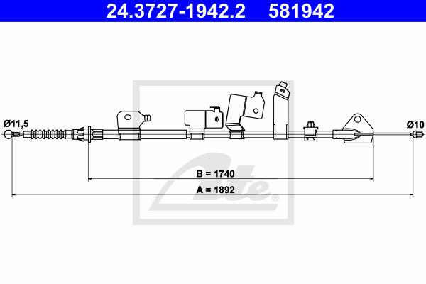 Käsijarruvaijeri ATE 24.3727-1942.2