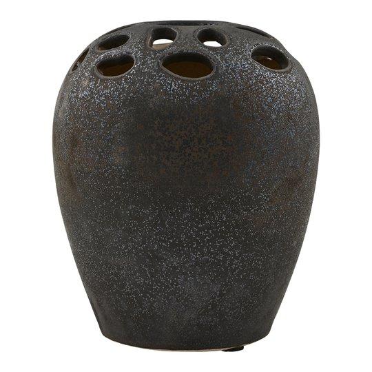 House Doctor - Varios Vas Keramik 19 cm Svart