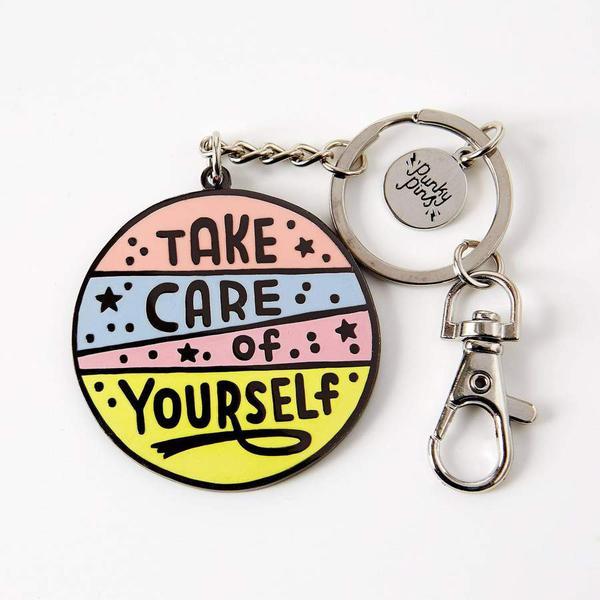 Take Care Of Yourself Enamel Keyring