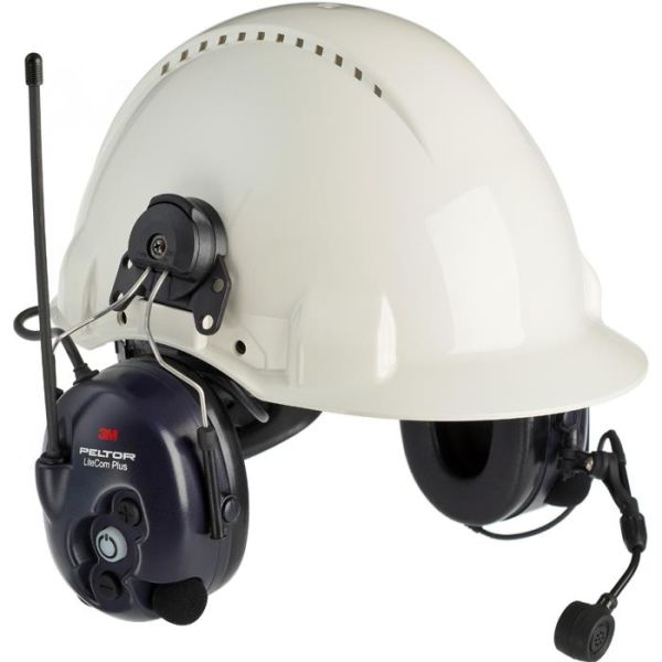 3M Peltor LiteCom Plus Hørselvern med kommradio, hjelmfeste