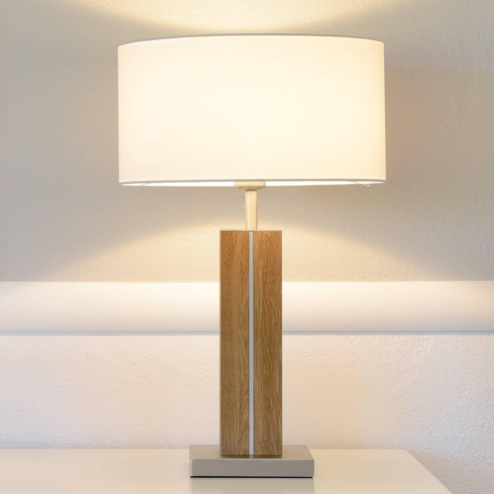 HerzBlut Dana bordlampe, oljet eik høyde 56 cm