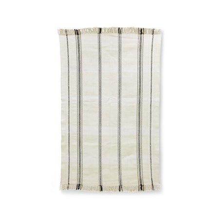 Håndvevd Teppe Black/White stripes 150x240 cm