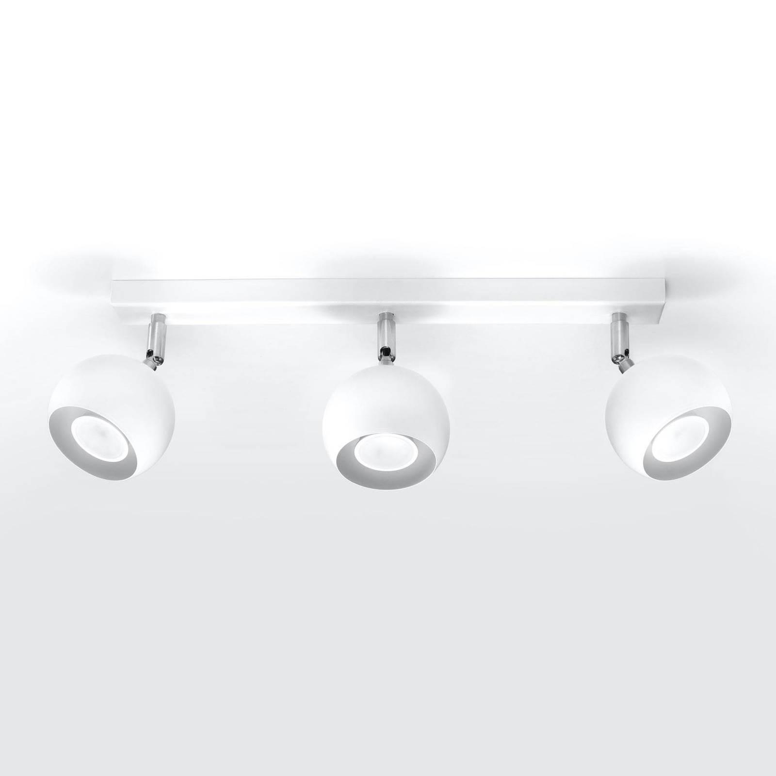 Kattokohdevalo Flame, valkoinen, 3-lamppuinen