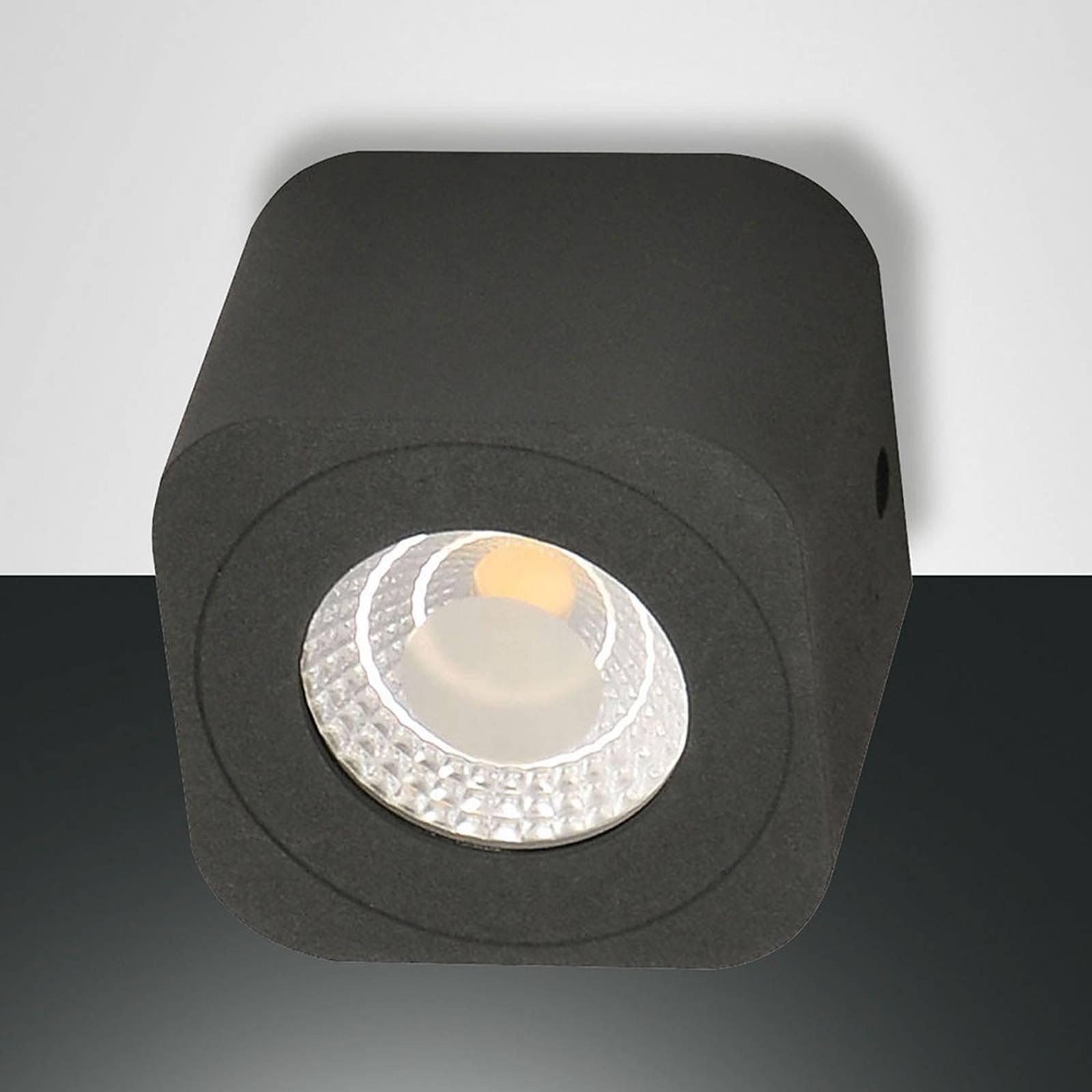 Firkantet LED-downlight Palmi i antrasitt