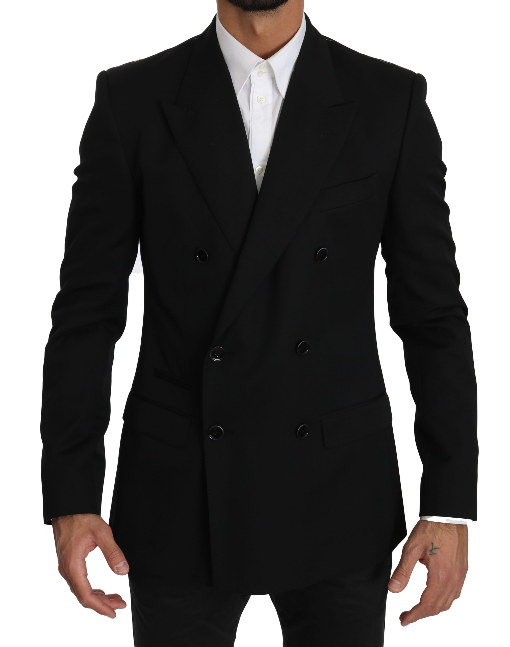 Dolce & Gabbana Men's Double Breasted SICILIA Blazer Black JKT2484 - IT48 | M