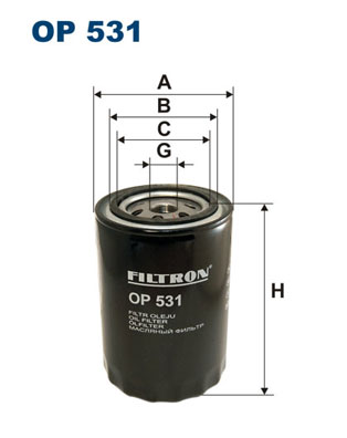 Öljynsuodatin FILTRON OP 531