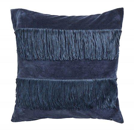 Putetrekk Fringes - Dark blue