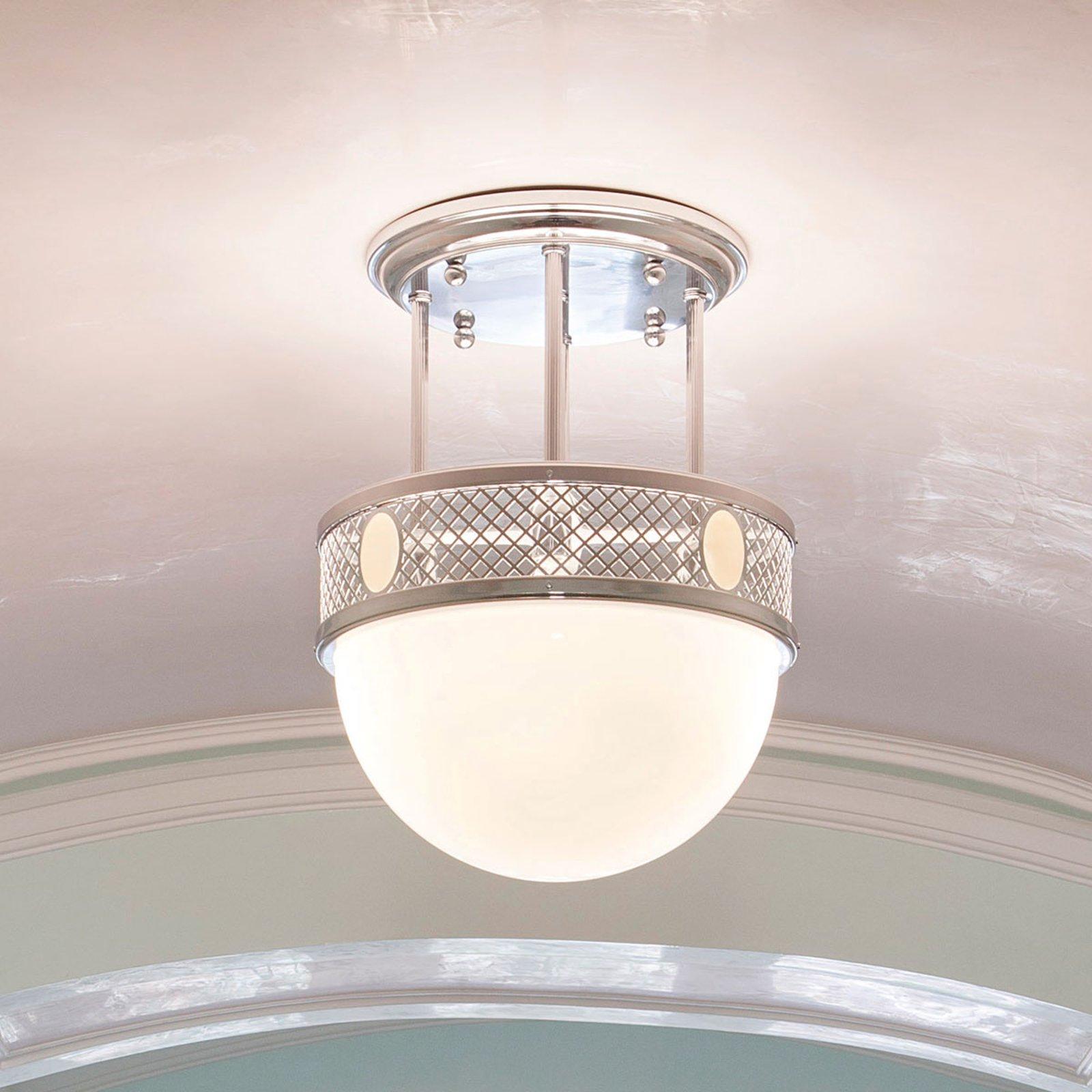 Elegant ALT WIEN nikkeltaklampe i Jugendstil