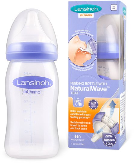 Lansinoh NaturalWave Teat Tåteflaske 240 ml