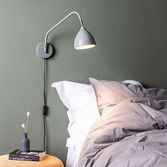 Vegglampe Valencia, grå