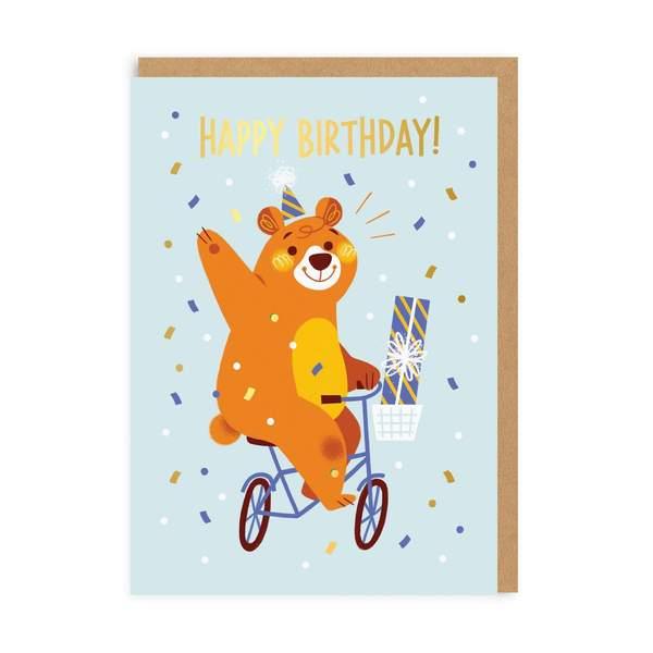 Party Bear Birthday Greeting Card