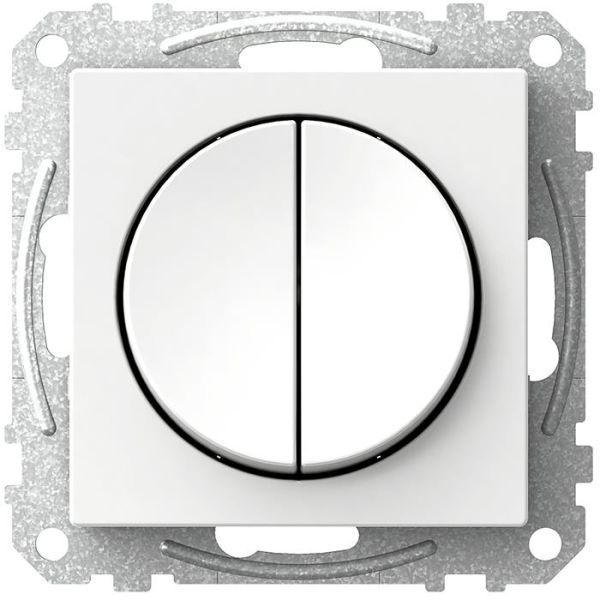 Schneider Electric Exxact WDE002316 Strømbryter rund vippe, krone, hvit