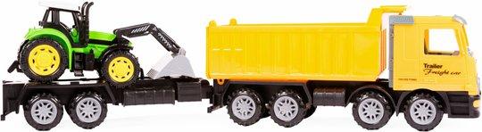 Alex Garage Lastebil med Tilhenger & Traktor