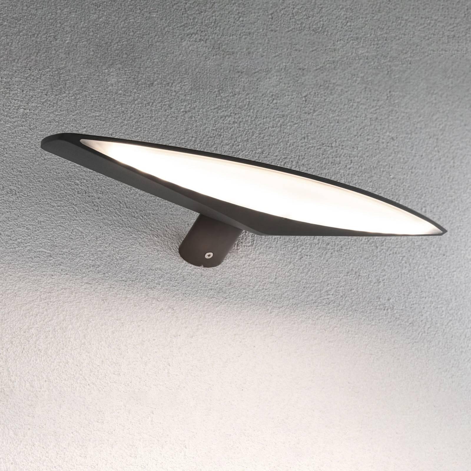 Paulmann Kiran -LED-aurinkovalo, 35 cm antrasiitti