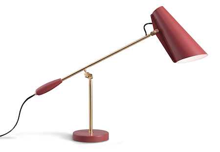 Birdy bordslampa – Marsala/brass