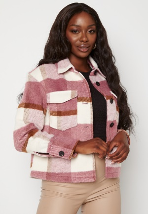 VERO MODA Pernille Short Jacket Mesa Rose Checks XS