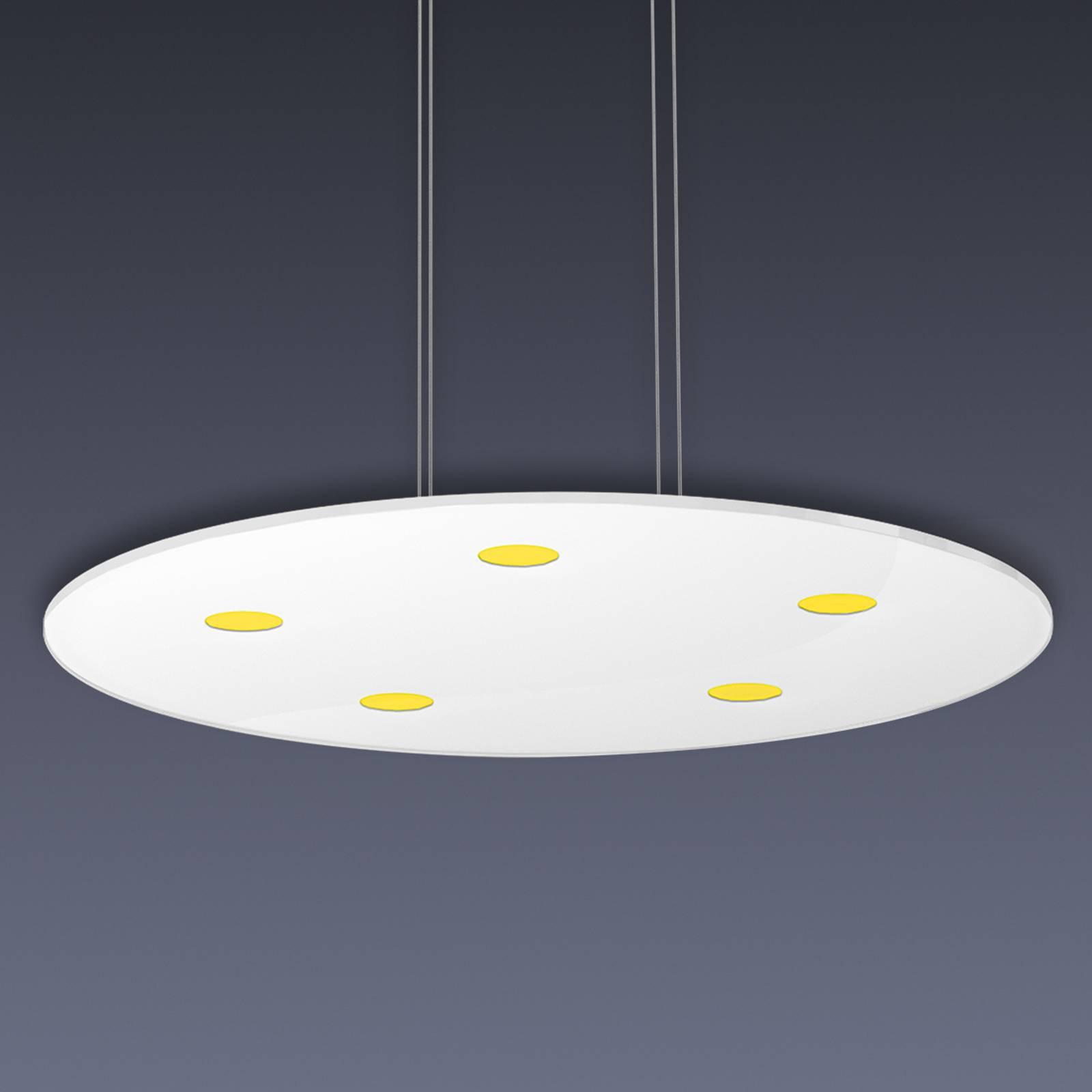 Pyöreä Sunia-LED-riippuvalaisin, kosketushimmennin