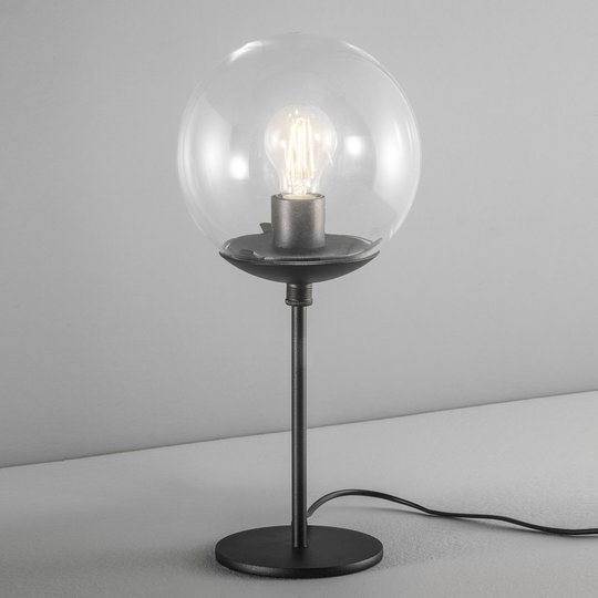 Bordlampe Global Ø 20 cm svart