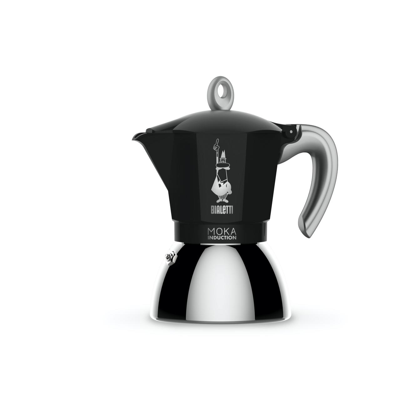 Bialetti - Moka Induction Edition 2.0 - 4 Cups - Black (6934)