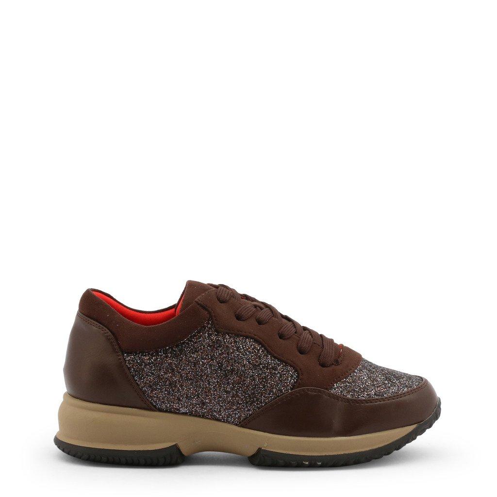 Roccobarocco Women's Sneakers Shoe Brown 342917 - brown EU 37