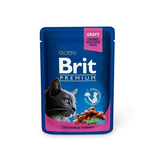 Brit Premium Portionspåsar Med Kyckling & Kalkon För Katter