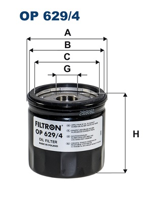Öljynsuodatin FILTRON OP 629/4