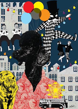 Elliot Lejontämjaren Poster 50x70 cm