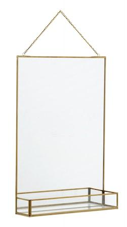 Spegel med Hylla Järn i Guldfinish